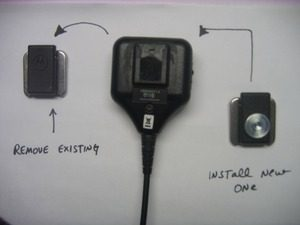 Motorola OEM Direct Replacement Speaker/mic. button clip